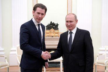 Канцлер Австрии заявил в Москве о желании развивать сотрудничество с Россией