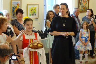 Открытие выставки в Алма-Ате