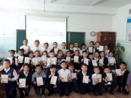 В Семее впервые провели Единый детский международный диктант