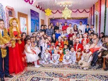 Новый год у воспитанников детской деревни семейного типа «Шанырак»