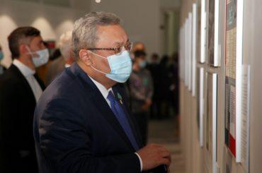 Выставка «Уроки Нюрнберга: чтобы помнили» открылась в Национальном музее Республики Казахстан