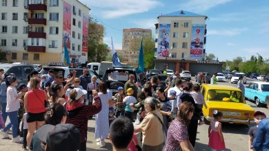 В Атырау состоялся автопробег, посвященный Дню Победы (видео)
